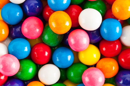 Close up of a Pile of Gum Balls.