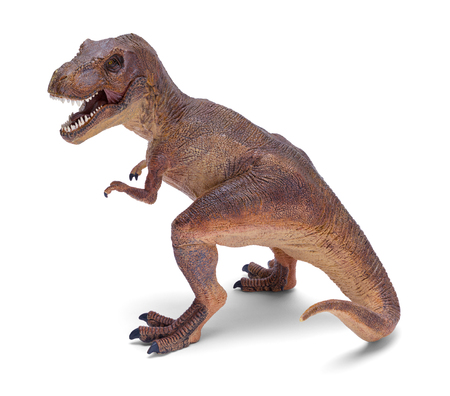 T Rex Dinosaur Toy Isolated on White Background.
