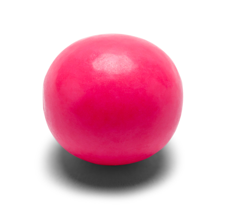 Large Pink Gumball Isolated on White Background. 版權商用圖片