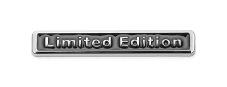 Limited Edition Badge Isolated on White Background.