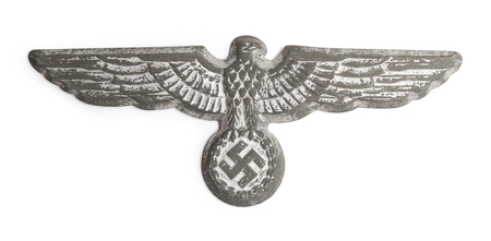 World War Two German Nazi Hat Badge Cut Out on White