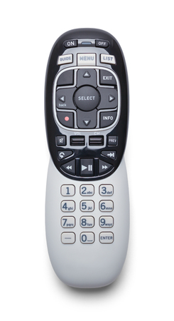 Television Remote Controler Isolated on White Background.