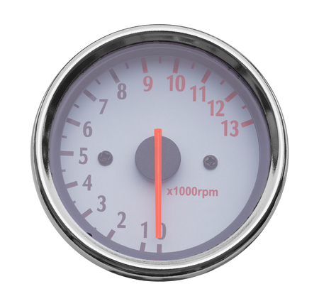 RPM Odometer Isolated on a White Background.