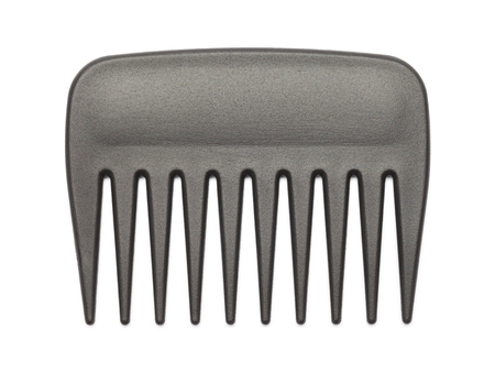 Small Black Pick Comb Isolated on White Background. Stok Fotoğraf