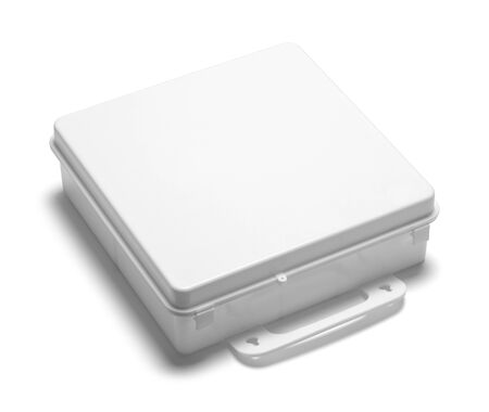 White Supply Box With Copy Space Isolated.