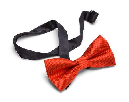 Red Bow Tie Isolated on White Background. Stockfoto
