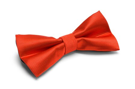 Red Bow Tie Isolated on White Background. Imagens