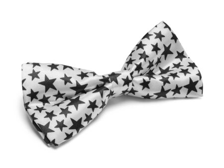 Bow Tie with Stars Isolated on White Background. Stock Photo