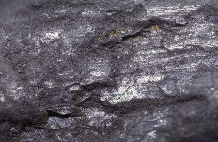 Black Stone Coal Rock Close Up Background. Standard-Bild