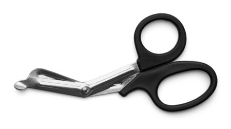 Medical Surgical Scissors Isolated on White Background.