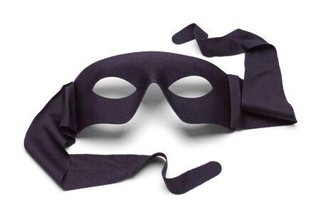 Black Hero Mask Isolated on White Background. 스톡 콘텐츠 - 128529039