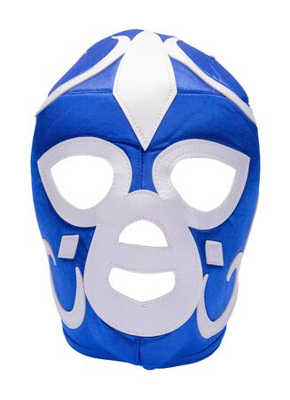 Lucha Libre Mask Cut Out on White. Stock Photo