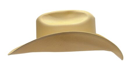 Cowboy Hat Side View Cut Out on White.