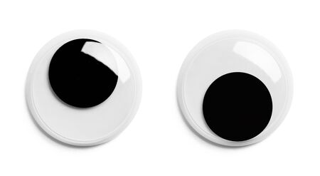 Crazy Googly Eyes Isolated on White Background.