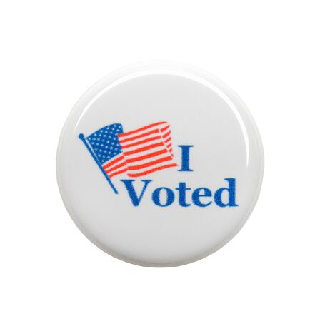 I Voted Button Isolated on White Background. 写真素材