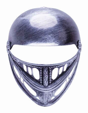 Costume Knights Helmet Cut Out on White.
