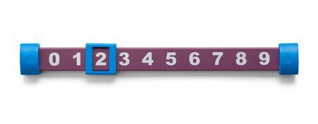 Foosball Table Soccer Score Bar Isolated on White.