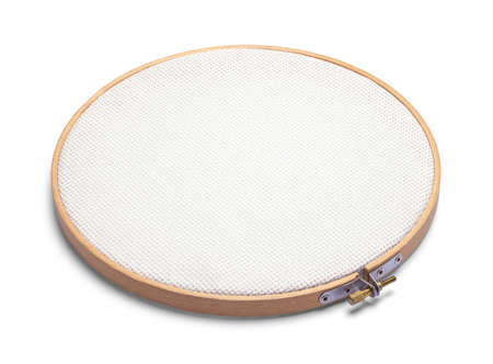 Cross Stitch Hoop Isolated on White Background.