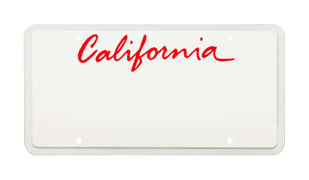 California License Plate with Copy Space Cut Out. Stok Fotoğraf