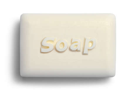 New White Bar of Soap Cut Out.