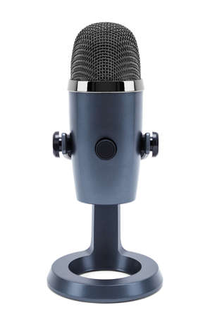 Wireless Stand Up Desk Microphone Cut Out.