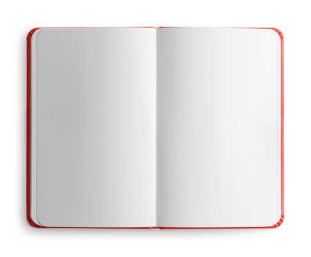 Open Sketch Book Top View Cut Out. Archivio Fotografico