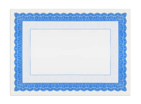 Blank Ornate Certificate Diploma Template Cut Out.