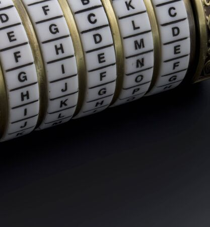 priory: password or keyword - combination puzzle box with rings of letters