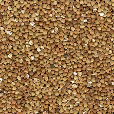 Buckwheat (kasha), toasted whole grains, background