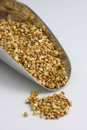 a scoop of buckwheat (kasha), toasted whole grain Zdjęcie Seryjne