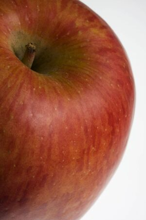 macro of red Fuji apple on white background, selective focus Stock Photo - 2761974