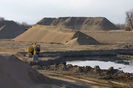 sand quarry: gravel mining in northern Colorado