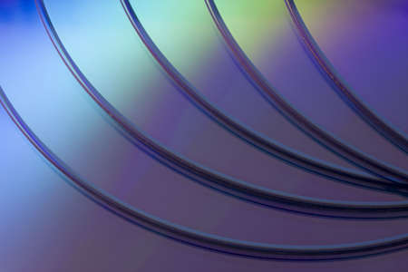 a stack of blank DVD or CD disks -  background Stock Photo - 2995070
