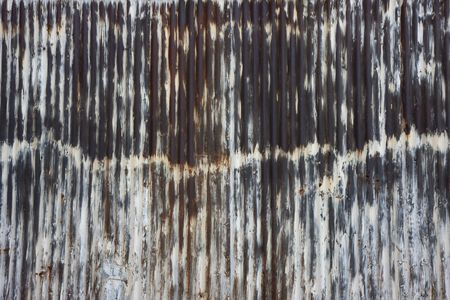 rusty metal wall which used to be painted white Stock Photo - 3096414