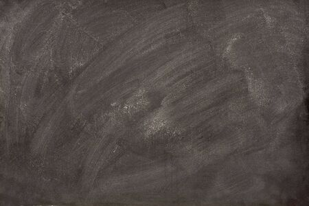 smudge: white chalk dust and smudges from eraser on a blank blackboard