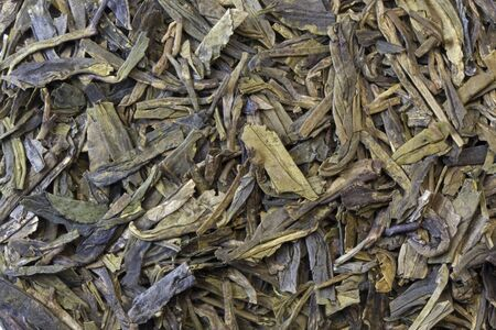 full leaf loose green tea background  - macro shot Stock Photo - 4119845