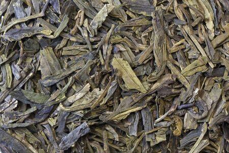 full leaf loose green tea background  - macro shot Stock Photo - 4119845