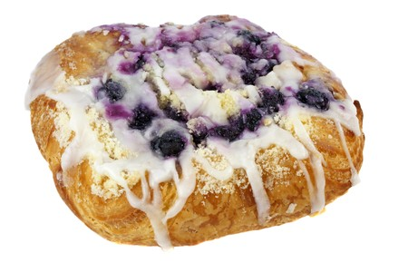 blueberry cheese danish pastry isolated on white Stock Photo - 4167391