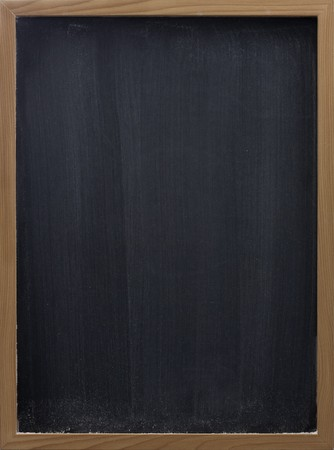 smudges: blank blackboard in wooden frame, white chalk eraser smudges