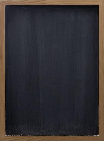 blank blackboard in wooden frame, white chalk eraser smudges Zdjęcie Seryjne - 4289827