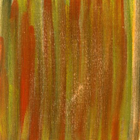red, brown and green hand painted watercolor abstract with scratch texture, self made Stock Photo - 4736376