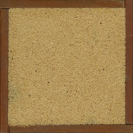 amaranth grain in a rustic wooden box or frame Stock Photo - 4846176