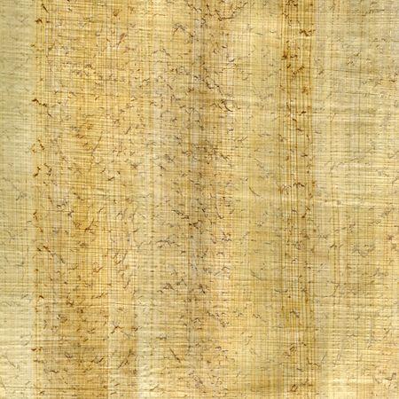 繊維パターンとしわとしわのあるパピルス紙テクスチャ