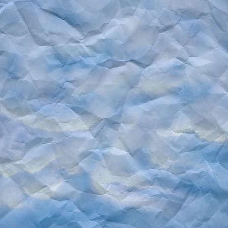 青と白の背景が印刷用紙を丸めてください。