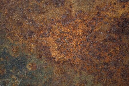 old rusty metal plate with remains of black paint Stock Photo - 5237068