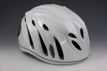 white protective helmets with vents for adventure racing and other extreme sports Stock Photo - 5276961