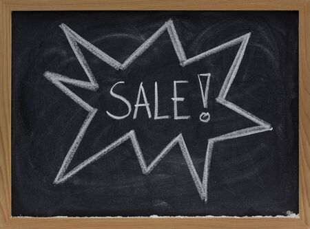 sale announcement sketched with white chalk on a blackboard Stock Photo - 5433312