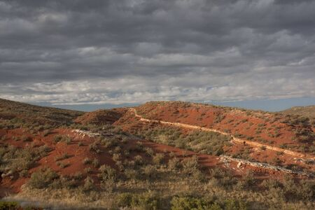 Red Mountain Open Space semi desert landscape in northern Colorado near Wyoming border, boundary between mountains and plains, late summer Stock Photo - 5514312