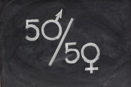 human gender: fifty percent Stock Photo