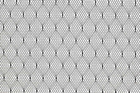 pattern of black lace fabric against white background photo